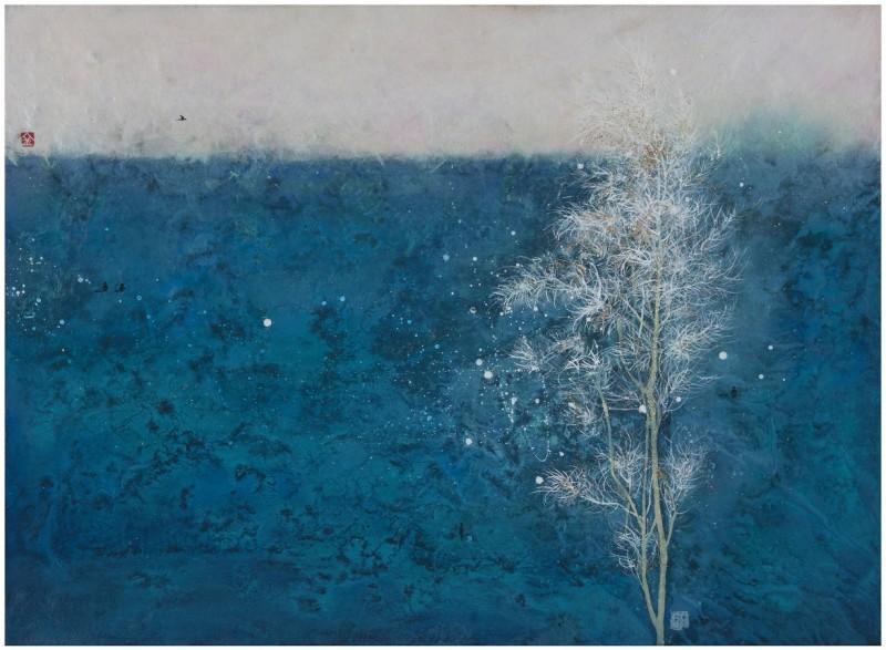 The Forbidden Fruit  53x72cm  han-ji on canvas 2019