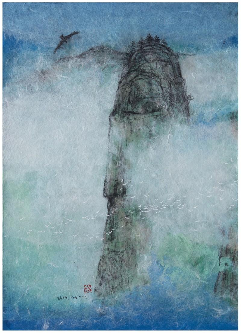 The Tree of Life 30.3x 41.4cm hanji on canvas 2019